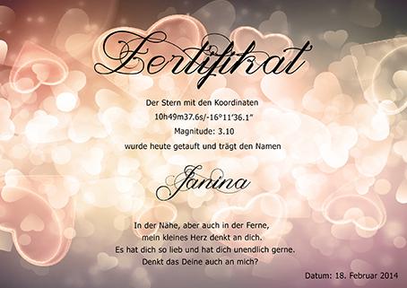 Sterntaufe Zertifikatvorlage 10